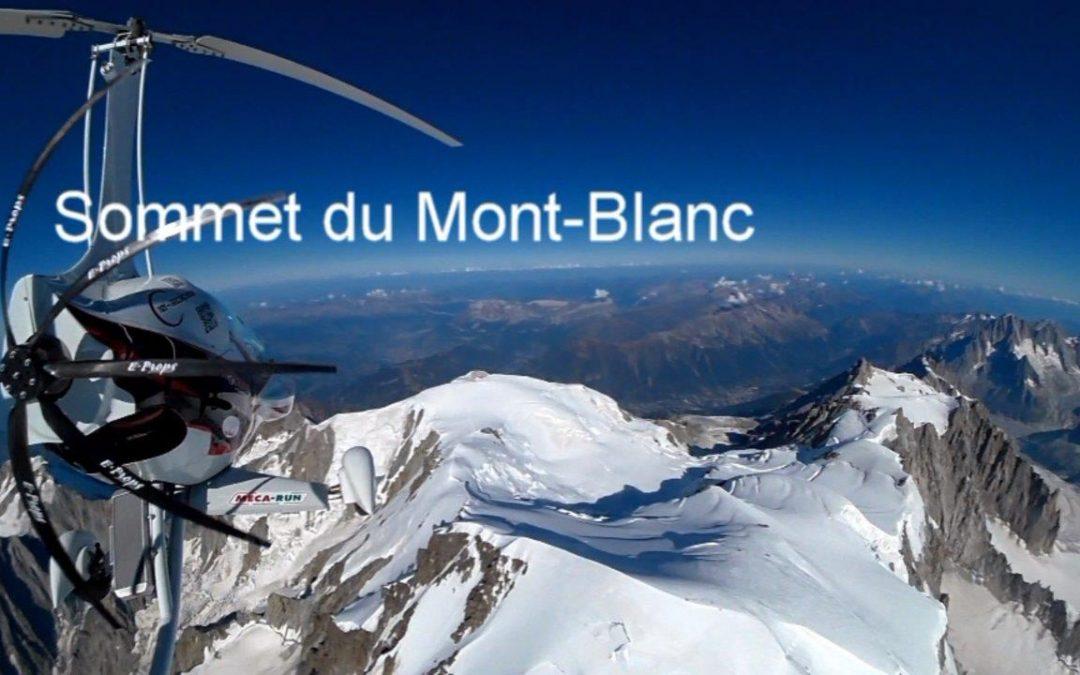 Mecarun au dessus du Mont Blanc